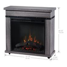 See Details - Dimplex Morgan Electric Fireplace Mantel, Charcoal Oak