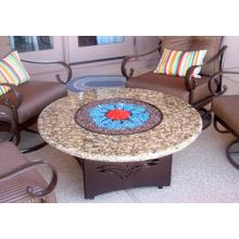 Oriflamme Gallo Fiorito Round Fire Table