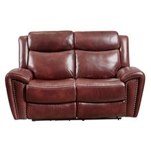 PRIME A705-203-1739 Barclay Steamboat Oxford Top Grain Leather Match Power Loveseat