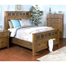 Sedona Rustic Oak Queen Bed      (SUNNY-Q2322)