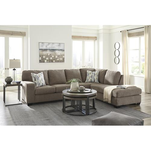 Dalhart Hickory 2 Piece Sectional