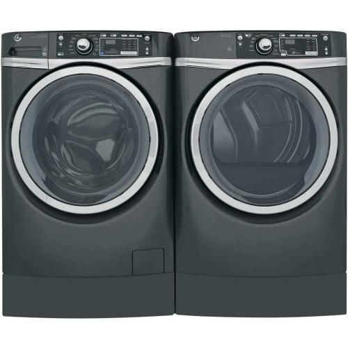 GE Front Load Laundry Package With Gas Dryer In Diamond Gray