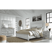 Kanwyn - Whitewash - 7 Pc. - Dresser, Mirror, Chest, Nightstand & Queen Panel Bed