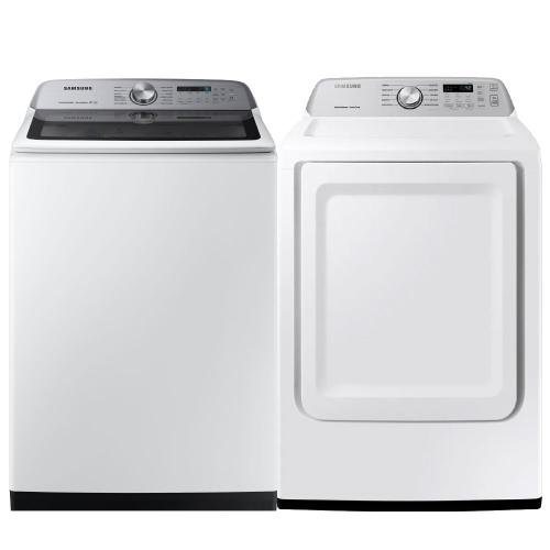 Packages - SAMSUNG 5.0 cu. ft. Top Load Washer with Super Speed & 7.4 cu. ft. Electric Dryer with Sensor Dry- Open Box