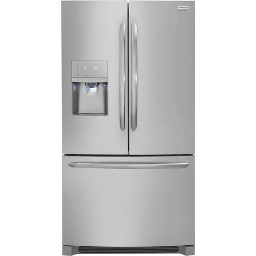 Frigidaire Gallery - Frigidaire Gallery 21.7-cu ft Counter-Depth French Door Refrigerator with Dual Ice Maker (Smudge-Proof Stainless Steel) ENERGY STAR