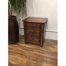 3 Drawer Nightstand American Chestnut
