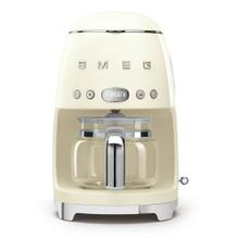 Smeg 50s Retro Style Design Aesthetic Coffee Machine, Cream