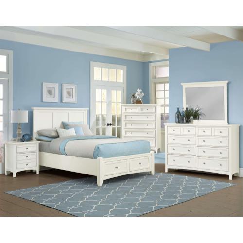 Queen White Mansion Bed