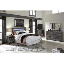 Baystorm- Gray- Dresser, Mirror, Chest, Nightstand & Queen Canopy Bed