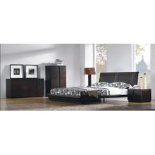 Jenny Chocolate Leather Bedroom Set