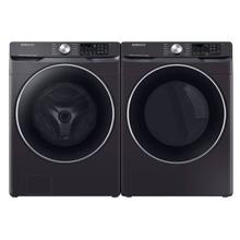 Samsung Smart Front Load Washer and Electric Dryer in Black Stainless Steel