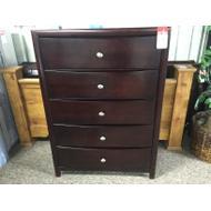 """50"""" 5-Drawer Dark Cherry Dresser"""
