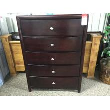 "50"" 5-Drawer Dark Cherry Dresser"