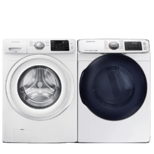 SAMSUNG Front Load 4.2 cu. ft Washer & 7.5 cu. ft Electric Dryer- Open Box
