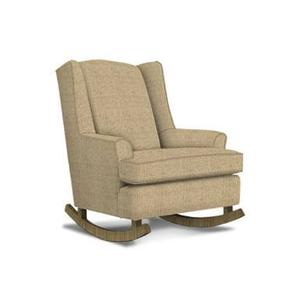 Willow Runner Rocker in Linen Fabric with Riverloom Finish