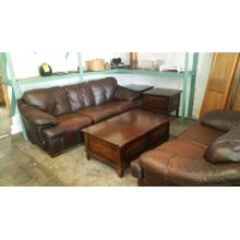 Used Leather Sofa and Loveseat