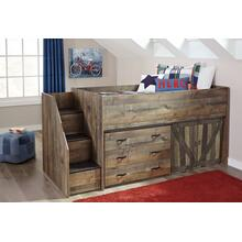 Trinell Twin Loft Bed W/Loft Drawer Storage Brown