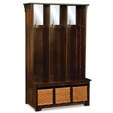 Lattice Weave Drawer Hall Seat
