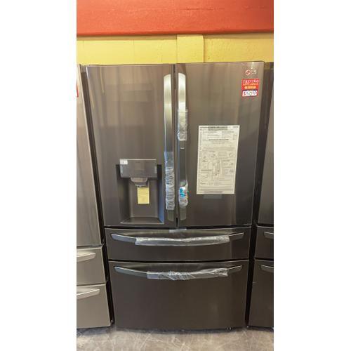 Treviño Appliance - LG Smart 4-Door French Door Refrigerator in PrintProof Black Stainless Steel