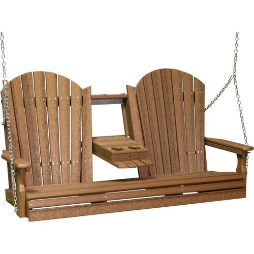 Adirondack Swing 5' Antique Mahogany