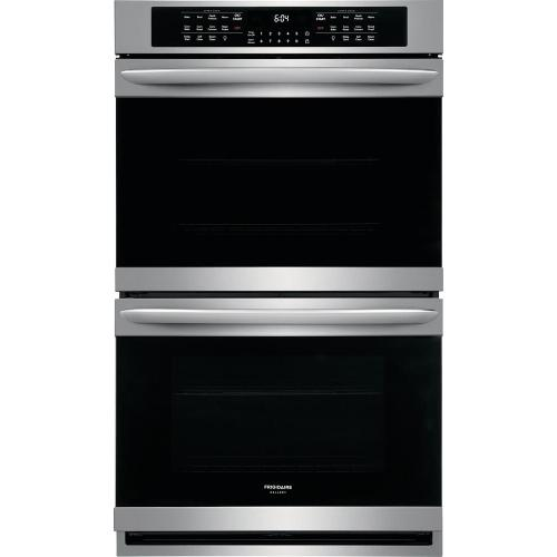 Frigidaire 5.1CF Upper Oven 5.1CF Lower Oven Stainless Steel with Convection Electric Double Double Wall Oven with Self Clean