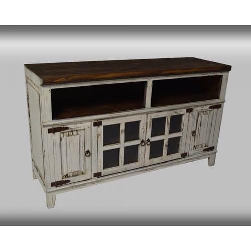 "PFC Furniture Industries - Rustic Antique White 60"" Media Console"