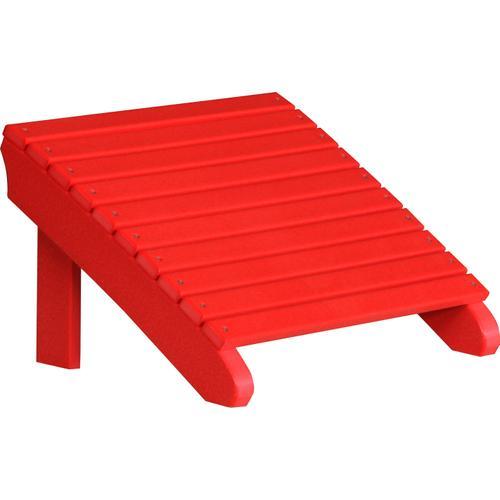 Deluxe Adirondack Footrest Red