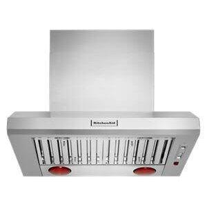 """Kitchenaid36"""" 585-1170 CFM Motor Class Commercial-Style Wall-Mount Canopy Range Hood"""
