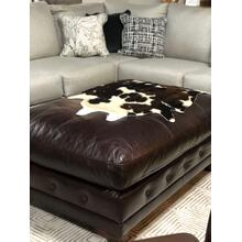 Drew Leather Ottoman