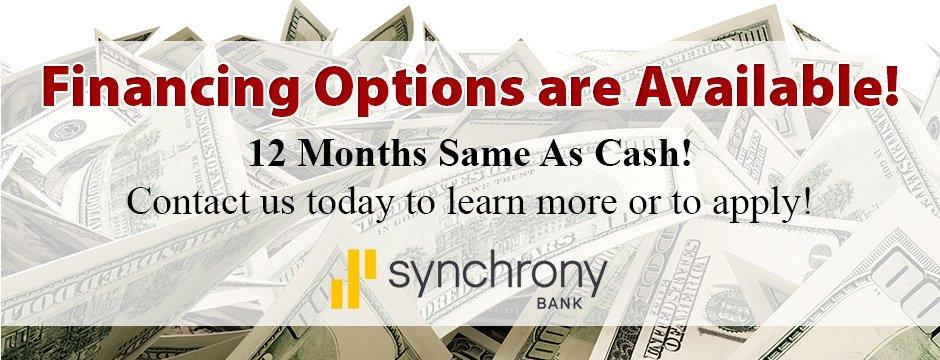 Contact us to learn more about financing options!