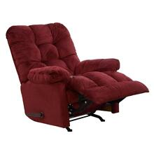 Merlot Nettles Chaise Rocker Recliner with Deluxe Heat & Massage