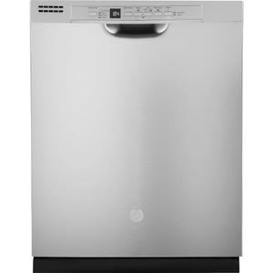 GE 54dBA Stainless Steel Front Controls with Plastic Tub Dishwasher Product Image