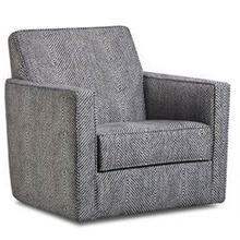 ALBANY 464-27 Stonewash Rope Stitch Grey Swivel Chair