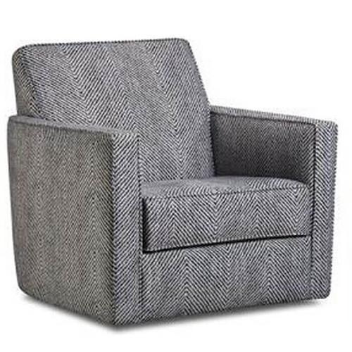 ALBANY 464-27 Stonewash Rope Stitch Grey Swivel Chair