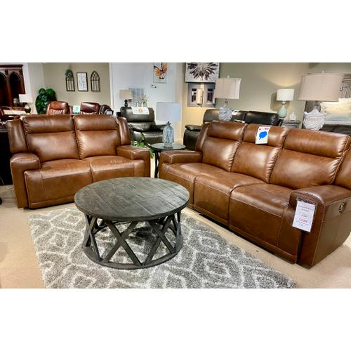 Juno Whiskey Reclining Sofa & Loveseat
