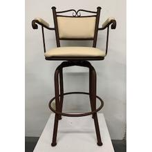 """Cali"" Swivel Bar Stool with Arms"