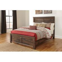View Product - Quinden - Dark Brown 3 Piece Bed Set (King)