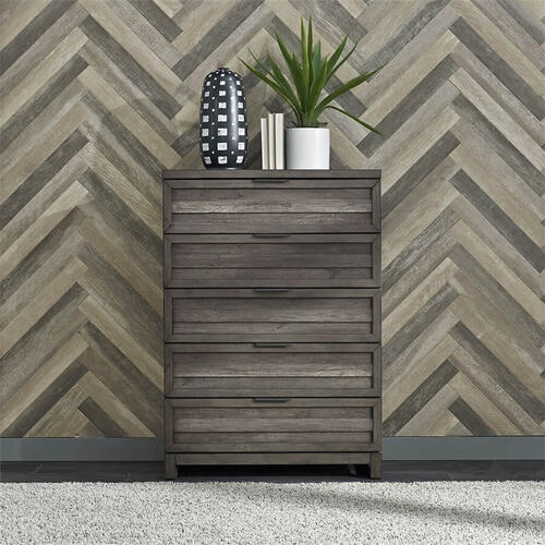 Tanners Creek -  5 Drawer Chest in Greystone Finish