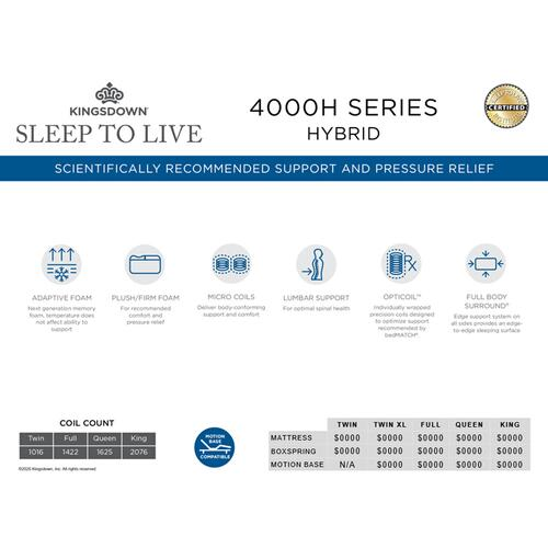Sleep To Live Collection - 4000H Series Hybrid