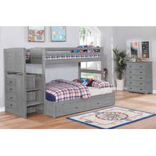 Twin Full Stair Bunk Grey Finish