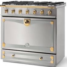 Stainless Steel Albertine 90 with Polished Brass Accents