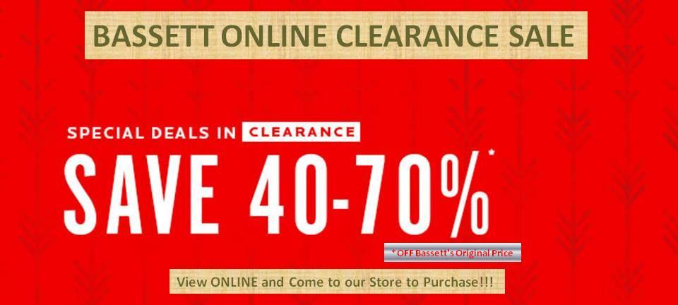Bassett's Clearance Sale!!!