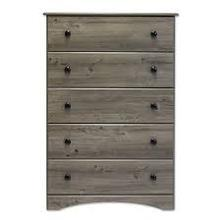 See Details - Weathered Grey Ash Perdue 5 Drawer Chest