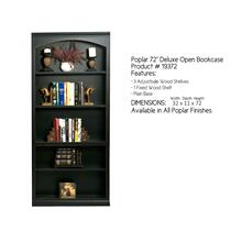Poplar 72 Deluxe Open Bookcase