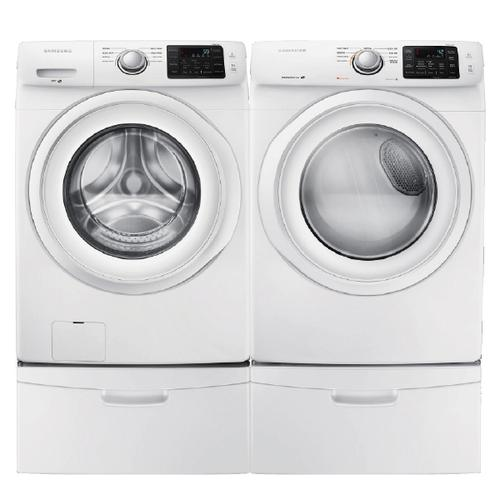 Samsung 4.2 Cu.Ft. Front Load Washer & 7.5 Cu.Ft. Electric Dryer with Pedestals