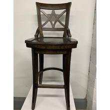 """Freemont"" Wood Swivel Bar Stool"