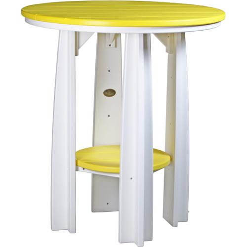 Balcony Table Yellow and White
