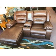 Ashley Loveseat with Recliner and Chaise (Performance Fabric)