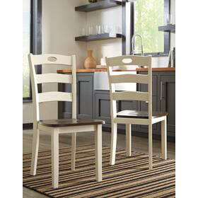 Turn your eat-in kitchen or dining space into a cottage-chic retreat with this dining room side chair. Two-tone finish serves up a double helping of charm. Pierced ladderback design is equally sweet and sophisticated.
