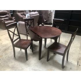 SPECIAL BUY DROP LEAF TABLE WITH FOUR CHAIRS